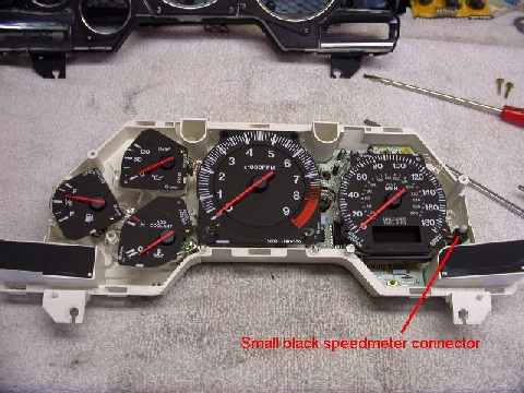 gauges triple r fd3s rx 7 main gauge cluster removal 1991 Rx7 Wiring-Diagram at bayanpartner.co